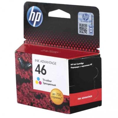 Купить Картридж HP CZ638AE № 46 цветной в интернет магазине